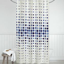 Bellatex Sprchový závěs Tečky modrá, 180 x 200 cm