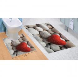 Bellatex Sada koupelnových předložek Světlé kameny 3D, 60 x 100 cm, 50 x 60 cm