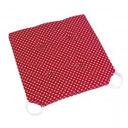 Bellatex Sedák Ulla hladký Srdíčka červená, 40 x 40 cm