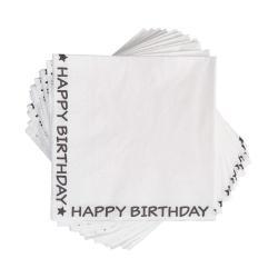 APRÈS Papírové ubrousky Happy Birthday 20 ks