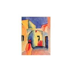 Reprodukce obrazu August Macke - A Glance Down an Alley, 60 x 45 cm