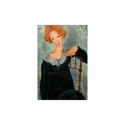 Reprodukce obrazu Amedeo Modigliani - Woman with Red Hair,60x40 cm