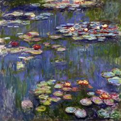 Reprodukce obrazu Claude Monet - Water Lilies,60x60cm