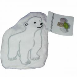Nahřívací polštářek s třešňovými peckami Lední medvěd SJH 583B