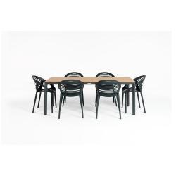 Zahradní set nábytku se 6 židlemi Le Bonom Joanna Thor