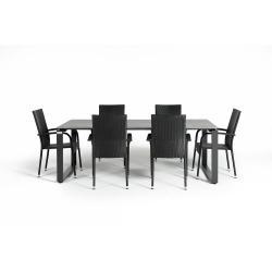Šedý zahradní set nábytku se 6 židlemi Le Bonom Paris Strong