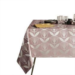 Pudrově růžový ubrus AmeliaHome Floris,140x220cm