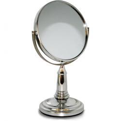 Oboustranné kosmetické zrcátko Lifetime Beauty, stříbrná