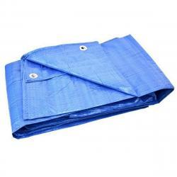GEKO Nepromokavá krycí plachta s oky Standard modrá, 4 x 6 m