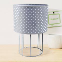 DUOLLA Stolní lampa Carla S, šedá, puntíkovaná