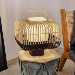 Forestier Forestier Bamboo Square S stolní lampa, černá