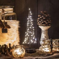 Hemsson Stromek Santa's Tree, měděný drát, výška 33,5 cm