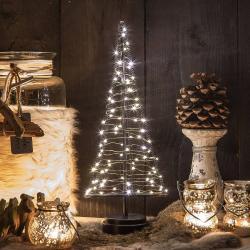 Hemsson Stromek Santa's Tree, měděný drát, výška 42,5 cm