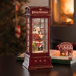 Konstmide CHRISTMAS LED dekorační telefonní budka se Santa Clausem