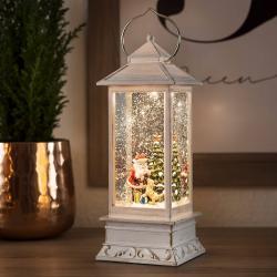 Konstmide CHRISTMAS LED vodní lucerna Santa Claus se psem
