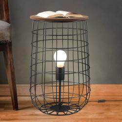 Nino Leuchten Stojací lampa Sila se stolní funkcí, Ø 25 cm
