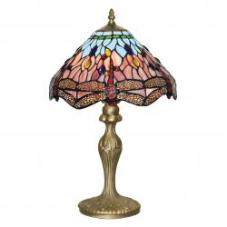 Searchlight Stolní lampa Dragonfly v Tiffany stylu