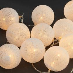 LES BELLES Světelný řetěz 10 světel - bílá