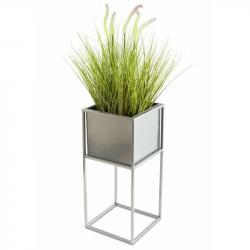 DekorStyle Květinový stojan Willa 50 cm chrom