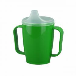 Hrnek s pítkem se dvěma víčky 250 ml, zelená
