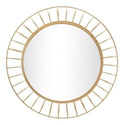 Nástěnné zrcadlo ve zlaté barvě Mauro Ferretti Glam Ring,ø81cm