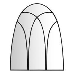 Nástěnné zrcadlo s černými detaily Mauro Ferretti Dark,90x110cm
