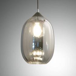 Fabas Luce Závěsné světlo Infinity ze skla, jeden zdroj Ø20cm