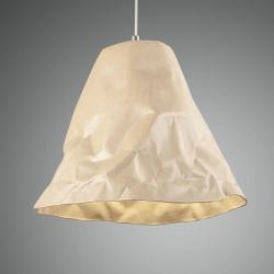 Fabas Luce Závěsné světlo Crumple z keramiky, khaki
