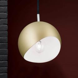 Orion Kulaté závěsné světlo Bowl - matné zlato