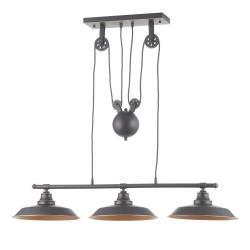 Westinghouse Westinghouse závěsné světlo Iron Hill, černé, 3