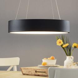 Wofi LED závěsné svítidlo Pure Ø 60 cm černé