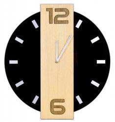 TZB Nástěnné hodiny Nero černé