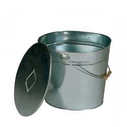 Lienbacher Oválná nádoba na popel s víkem, 24 l, pozink