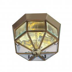 Searchlight Stropní svítidlo Flush Klassik mosaz, 8 zdrojů