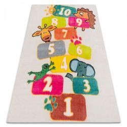 3kraft Dětský koberec PLAY NUMBER krémový