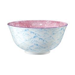 ORNAMENTS Sada misek 520 ml set 6 ks - sv. modrá/růžová