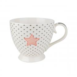 Porcelánový hrnek Dotted Star 460 ml, bílá,