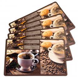 Prostírání Káva, 43,5 x 28,5 cm, sada 4 ks