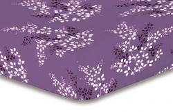 Prostěradlo z mikrovlákna DecoKing Hypnosis CALLUNA fialové+krémové
