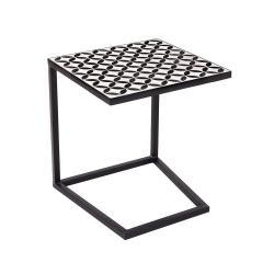PALAZZO Příruční stolek - černá/bílá