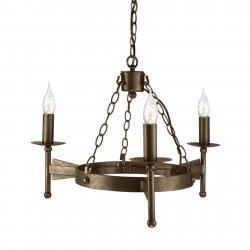 Elstead Středověké závěsné světlo CROMWELL 3 zdroje