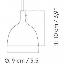 MENU Menu Cast LED závěsné světlo v černé, Shape 2