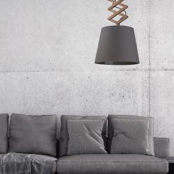 NOWODVORSKI LIGHTING Závěsné světlo Tosca M s vysouvacím ramenem dřevo