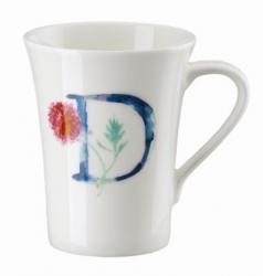 Hrnek v dárkovém balení Květinová abeceda Rosenthal, písmeno D, květina Dahlia, 400 ml