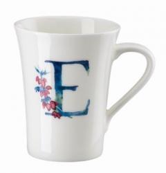 Hrnek v dárkovém balení Květinová abeceda Rosenthal, písmeno E, květina Erica, 400 ml