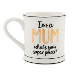 Porcelánový hrnek Sass & Belle Super Mum, 400ml