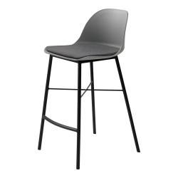 Šedá barová židle Unique Furniture Whistler