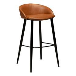 Hnědá barová židle z imitace kůže DAN-FORM Denmark Dual, výška 91 cm
