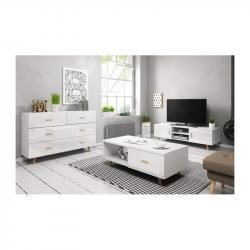 Hector Sada nábytku do obývacího pokoje Sweden bílá lesk