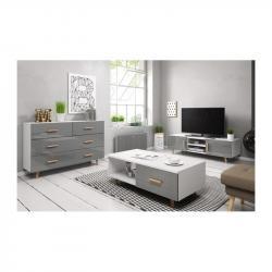 Hector Sada nábytku do obývacího pokoje Sweden šedá/bílá lesk